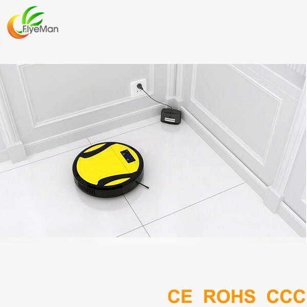 Floor Mopping Robot with Automatic Cleaning, Timing Syetem