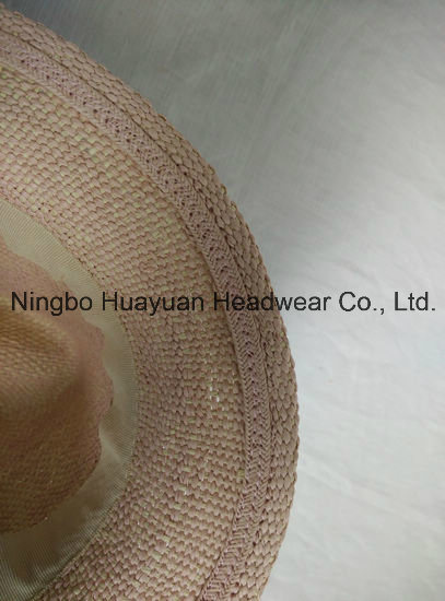 100% Paper Hand Woven Band Tassel Fedora Straw Hat