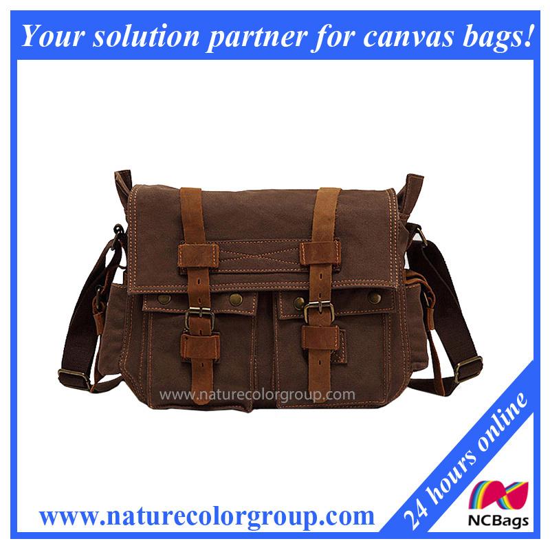 Leisure Canvas Shoulder Messenger Bag (MSB-001)