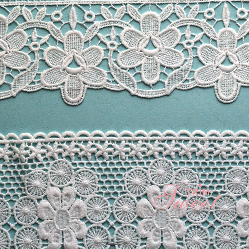 Personalized Water Soluble 3D Flowered Lace