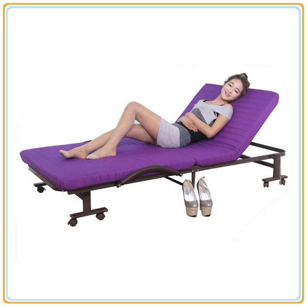 Hotel Bed with Violet Mattress 190*70cm/Foldable Bed