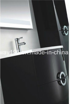 Latest Wall Mounted Italian Design MDF Bathroom Cabinet with Side Cabinet