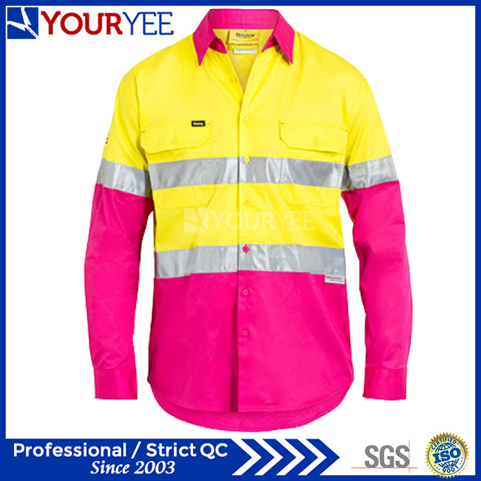 Long Sleeve Safety Work Shirts Unique Design (YWS116)