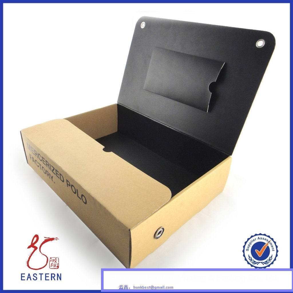 Custom Cardboard Paper Shirt Box Packaging/Shirt Packaging Box with PVC Window Lid