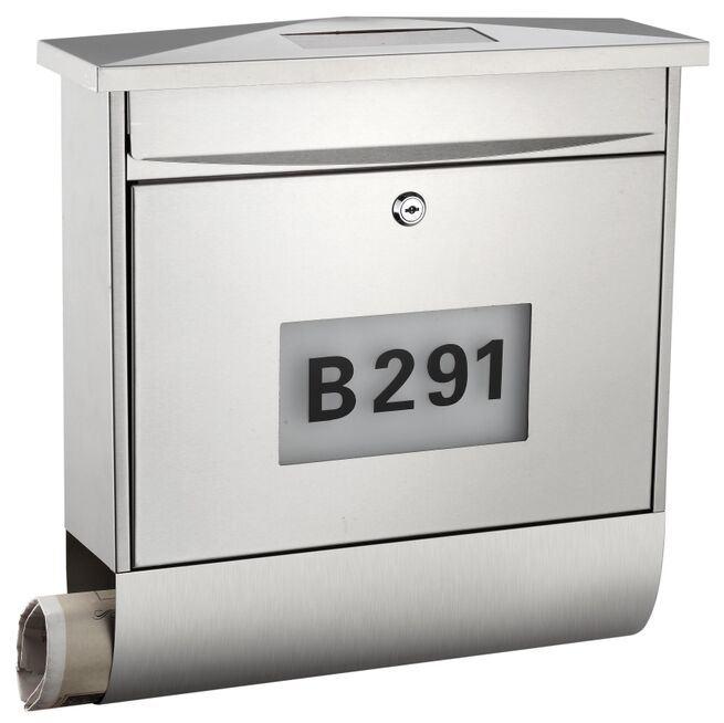 Stainless Steel Modern Design Solar Mailbox