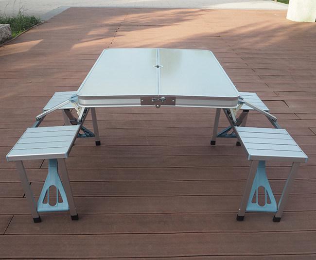 New Portable Aluminium Picnic Folding Table with Umbrella