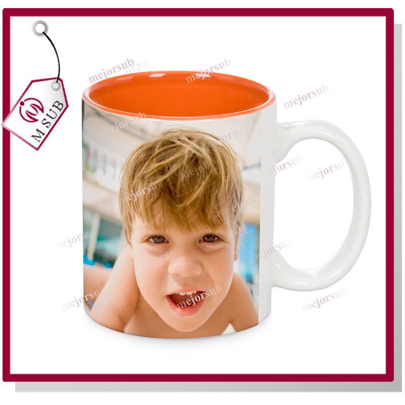 Cheap 11oz Inner Color Sublimation Ceramic Mug