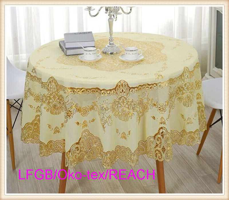 PVC Vinyl Lace Crochet Wedding Tablecloth