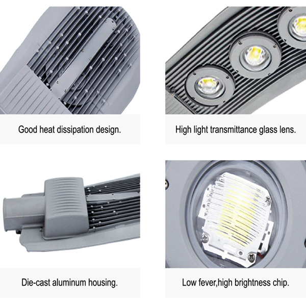 City and Village Outdoor Cast Iron Street Lamp LED Outdoor LED Street Lighting Design Road Lamp Ml-St-100W