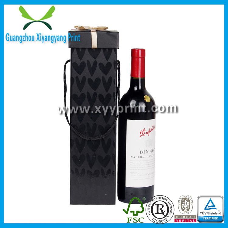 Fancy Folding Cardboard Paper Wine Gift Box with Logo Printing