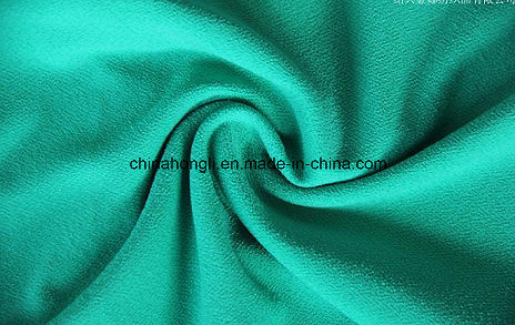 75D T/Sp 95/5 High Twist Crepe Ity Single Jersey Knitting Fabric for Women Garment