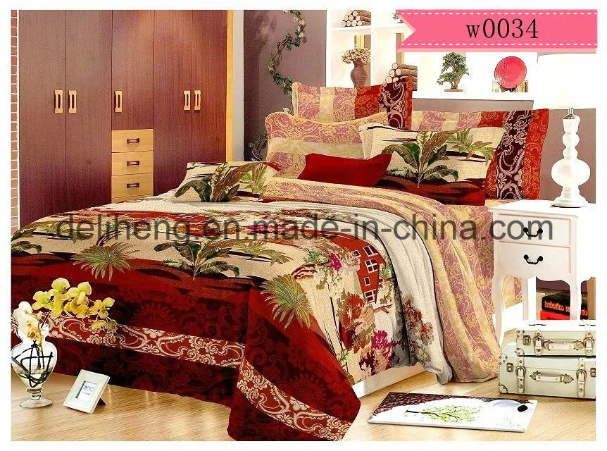 95-105GSM Velvet Microfiber Polyester Printed Fabric for Bed Sheet