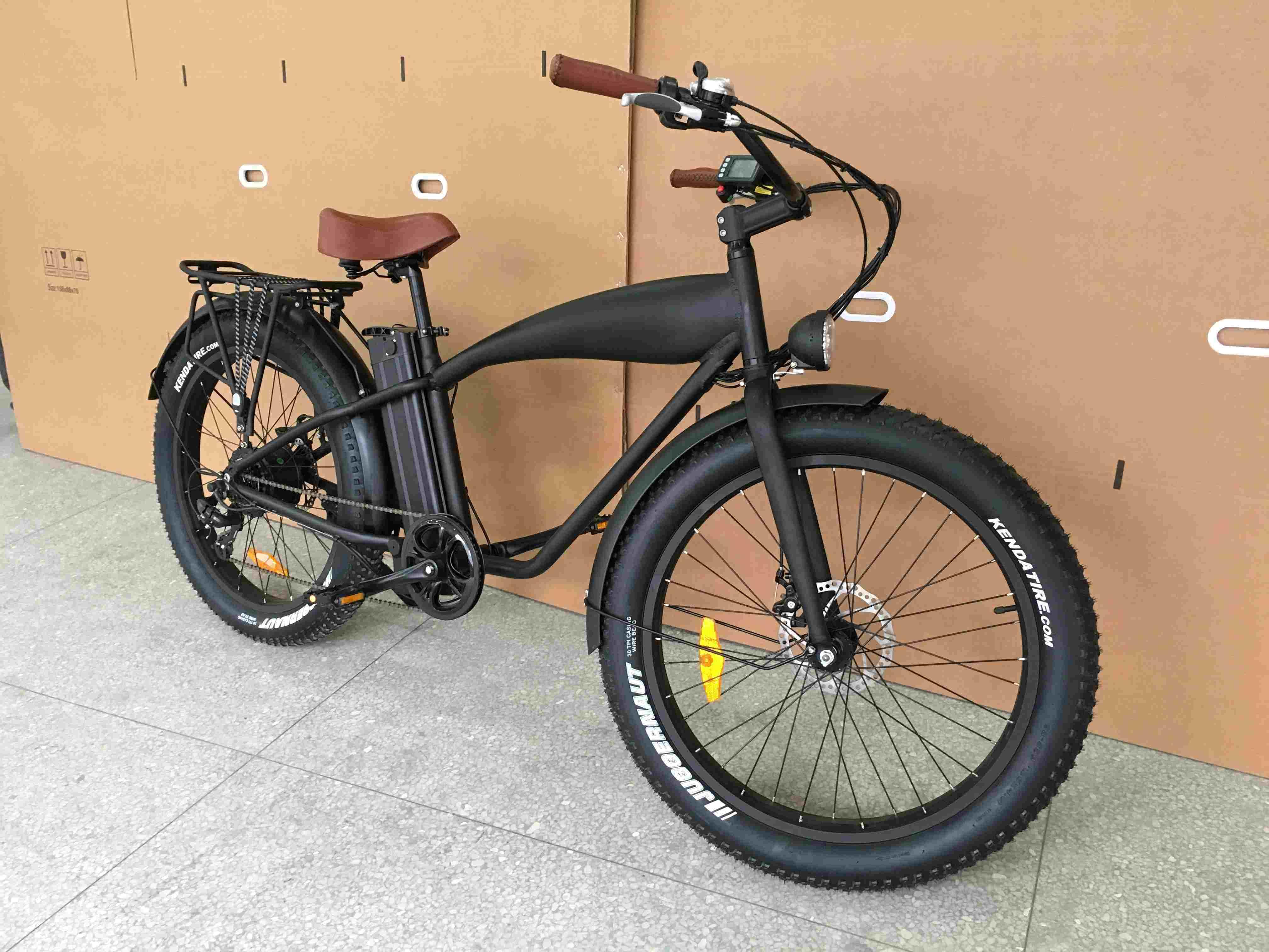Retro Fat Tire Electric Bicycle with Rear 8fun Motor