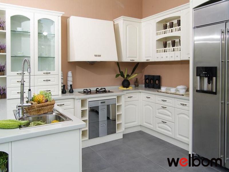 Dise o moldeado blanco de las cabinas de cocina dise o for Gabinetes de cocina blancos