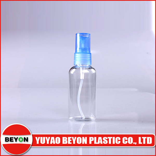 50ml Plastic Pet Oval Transparent Cosmetic Bottle with SGS Certification (ZY01-A002A)