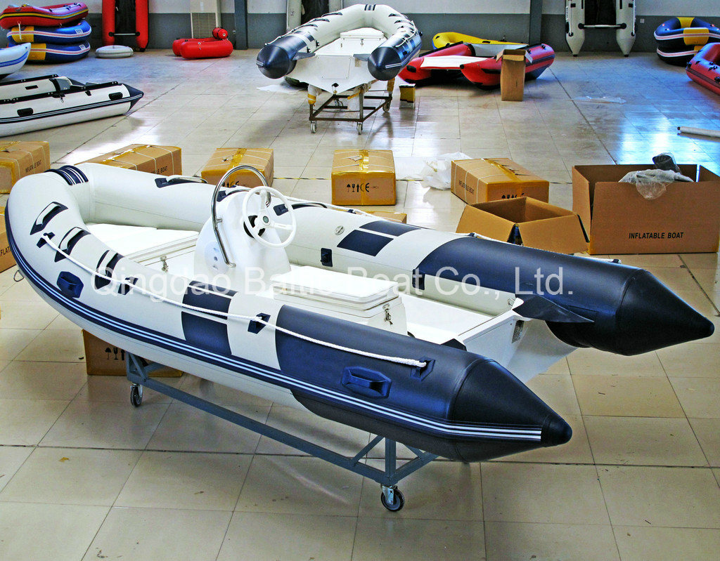 Console Rigid Hull Fiberglass Inflatable Rib Boat 420