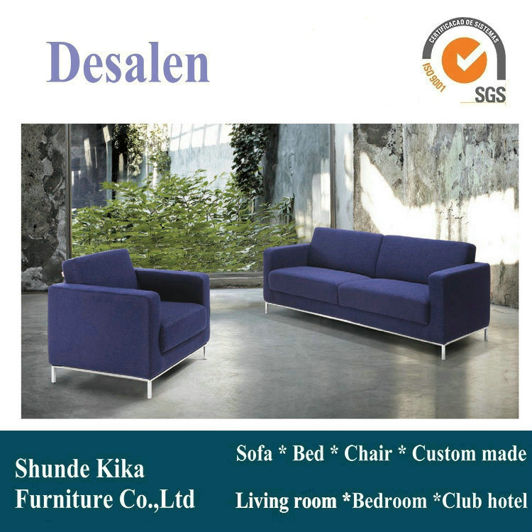 Blue Color Leather Sofa, Office Sofa, Office Furniture (8512)