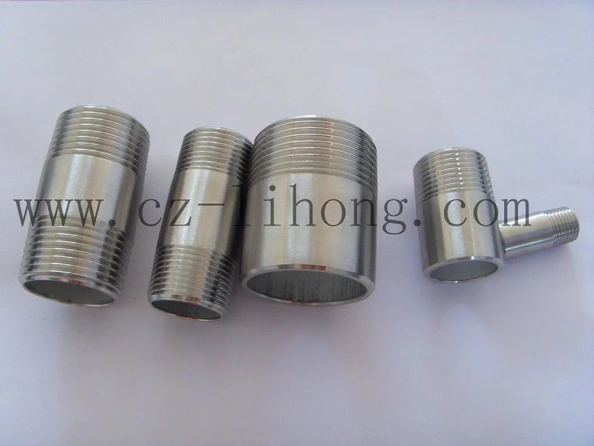 """3/8"""" Stainless Steel 316L DIN2999 Barrel Nipple From Pipe"""