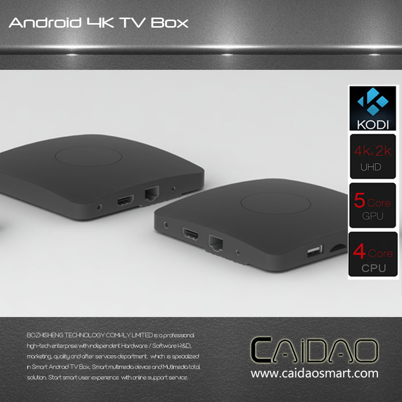 Amlogic S905X Processor Quad Core   2GB RAM Android TV Box