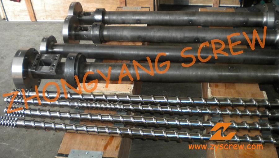 Single Extruder Screw Barrel for Plastic Recyling Screw Extruder Machine
