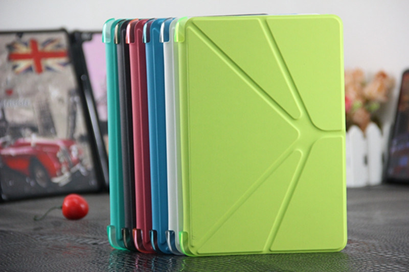 Colorful Matte PC+PU Combo Flip Tablet Cover for iPad Mini 2/3/4