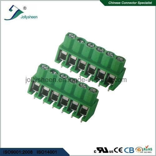 PCB Screw Terminal Blocks Pitch 5.0mm 180deg Straight with Green Housing