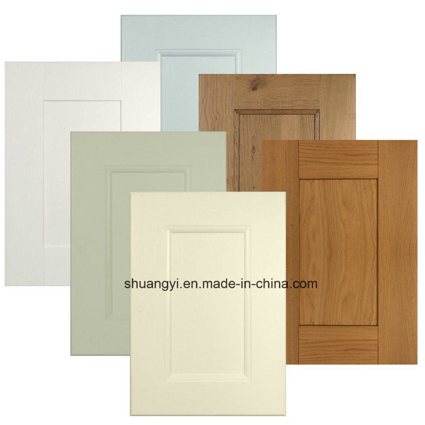 Waterproof PVC MDF Sheet Door with Shape Kitchen Cabinets