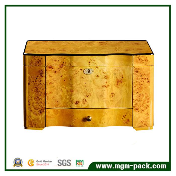 High-End Cedar Wooden with Tray Drawer Storage Cigar Box