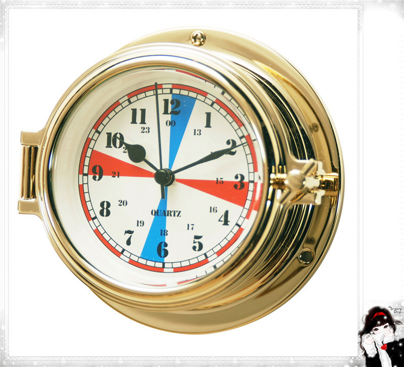 Nautical Radio Room Clock 12 Hours Dial 150mm Waterproof