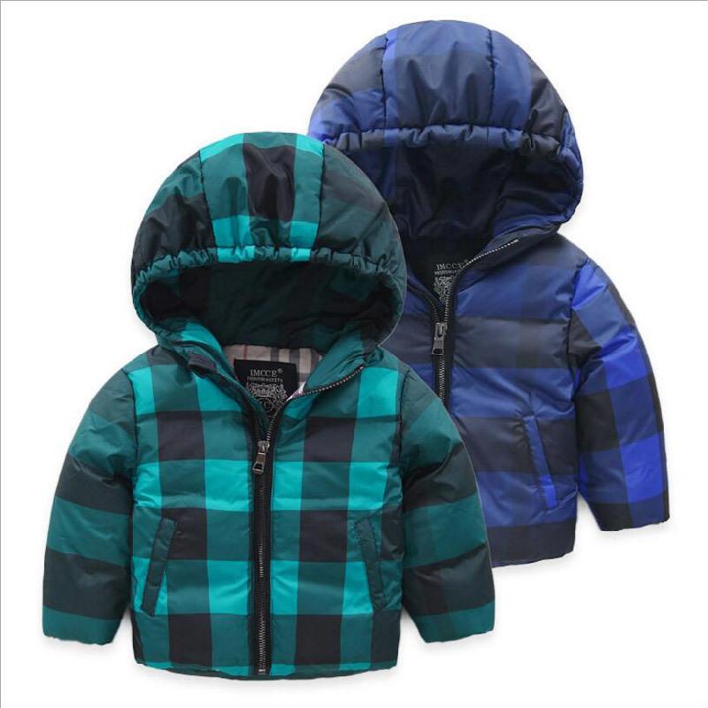 Plaid Children′s Cotton Coat for Boy Clothes