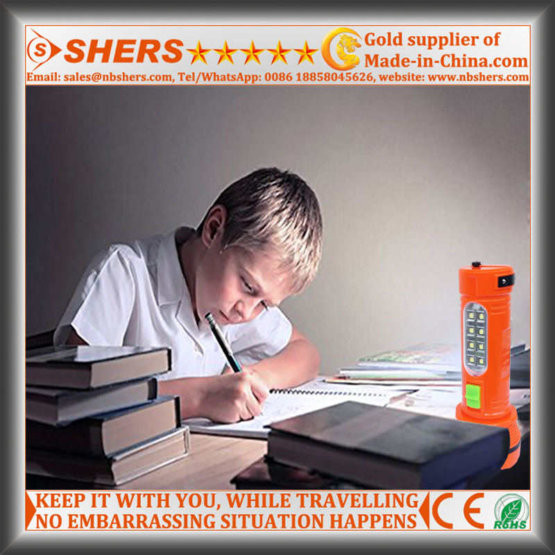 Solar 1W LED Torch with 8 LED Desk Lamp (SH-1936)