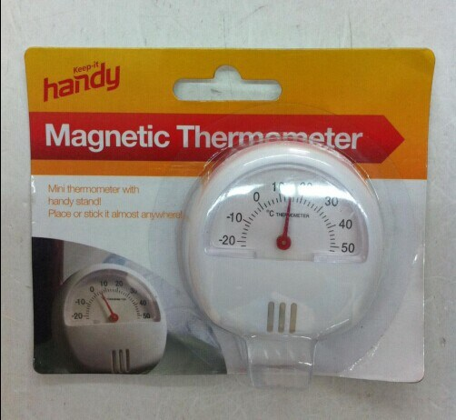 Useful Round Shape Plastic Magnetic Thermometer