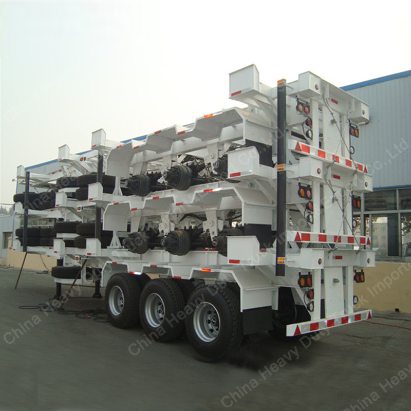 Three Axles 40FT Container Carrier Skeleton Semi Trailer