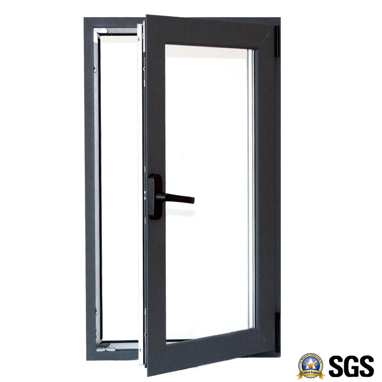 Grey Color Electrophoresis Surface Treatment Aluminium Casement Windows K04001