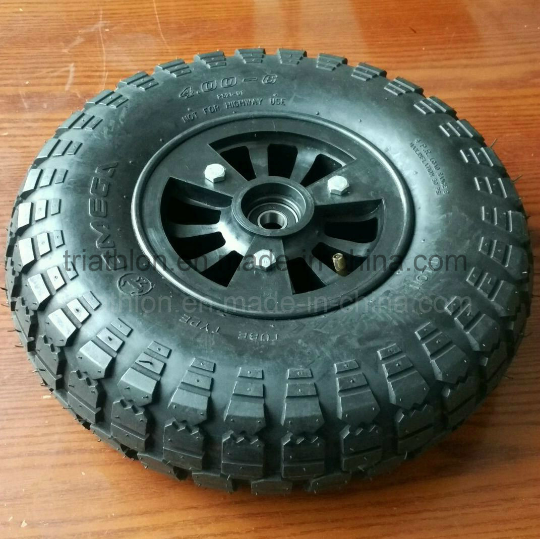 4.00-6 3.50-6 4pr Turf pneumatic Tire with Nylon Rim