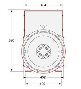Stamford Small Alternator with 30kVA-90kVA Industrial and Marine Used