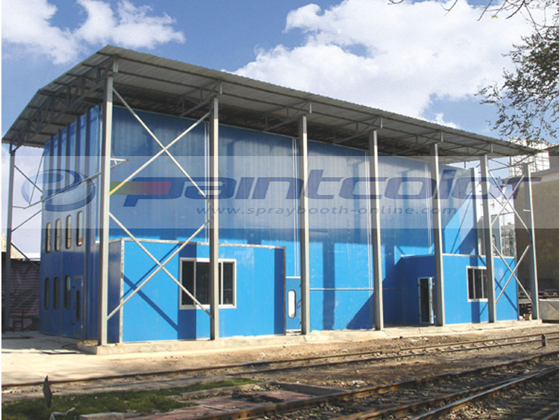 12.8m X 5.4m X 4.34m Paint Booth