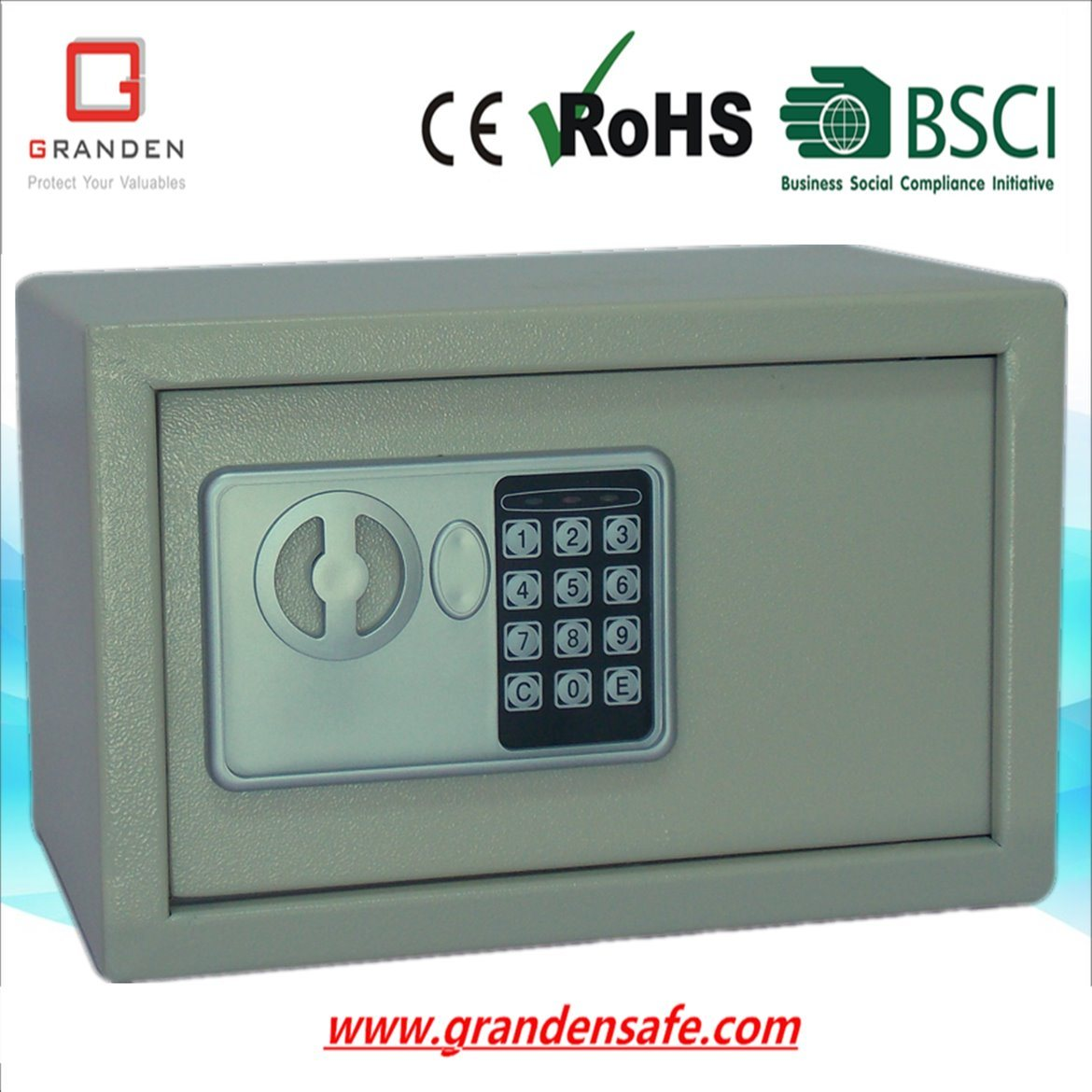 Electronic Safe Box for Home and Office (G-20E) , Solid Steel