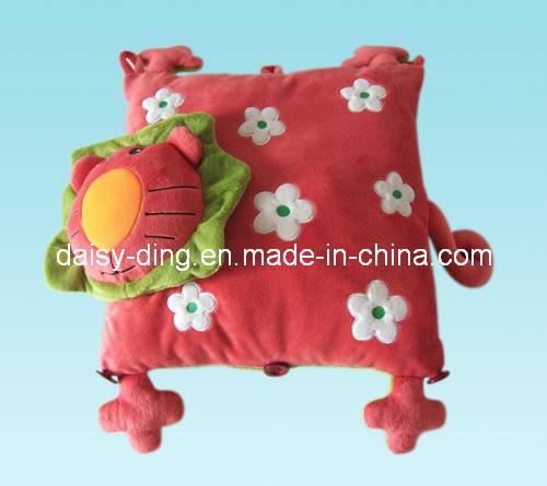 Plush Soft Lion Cushion with Beautiful Embroidery