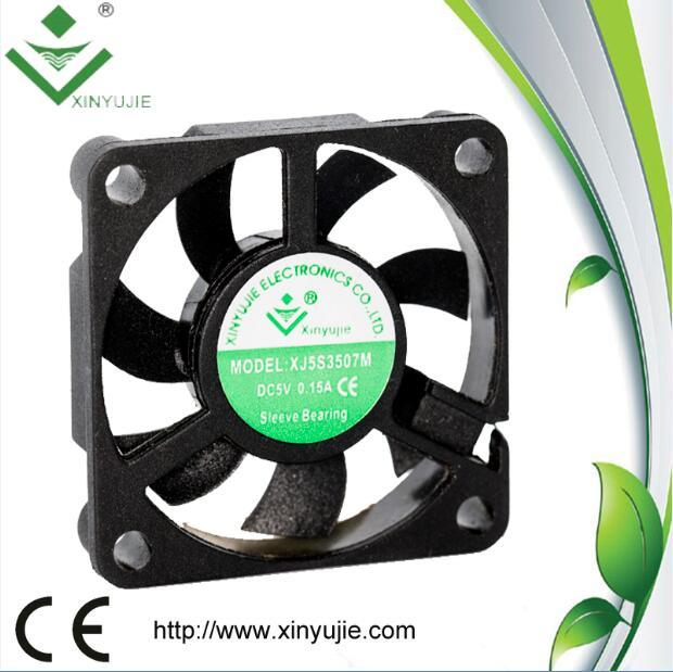 35*35*07mm Plastic DC Fan Small Size Mini Fan Made in China