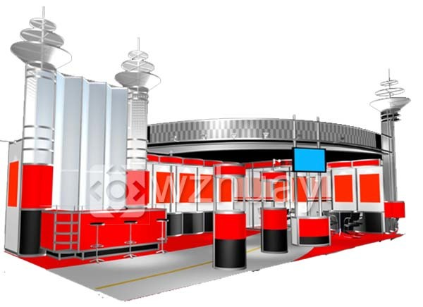 Large Exhibition Stall : China exhibition exhibit display supplier wenzhou