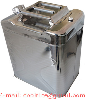 Stainless Steel Jerry Can / Oil Drum / Fuel Tank (30L)