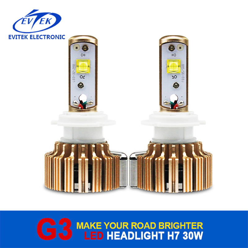 G3 Gold Rose LED Headlight H7 30W 3000lm Motorcycle Bulbs