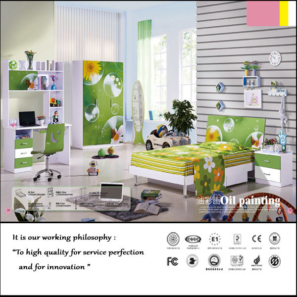 Beautiful Painting Design for Kids Furniture in Bedroom