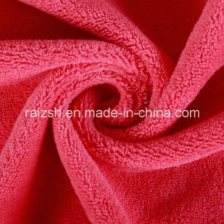Multicolor Supply Polyester Robe Fabric Warp Coral Fleece
