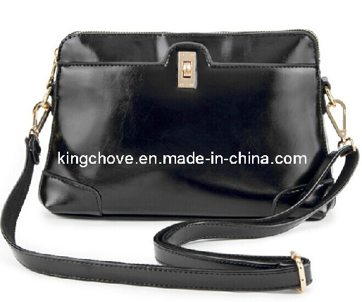 Black High Quality PU Latest Fashion Ladies Bag (KCH78-01)