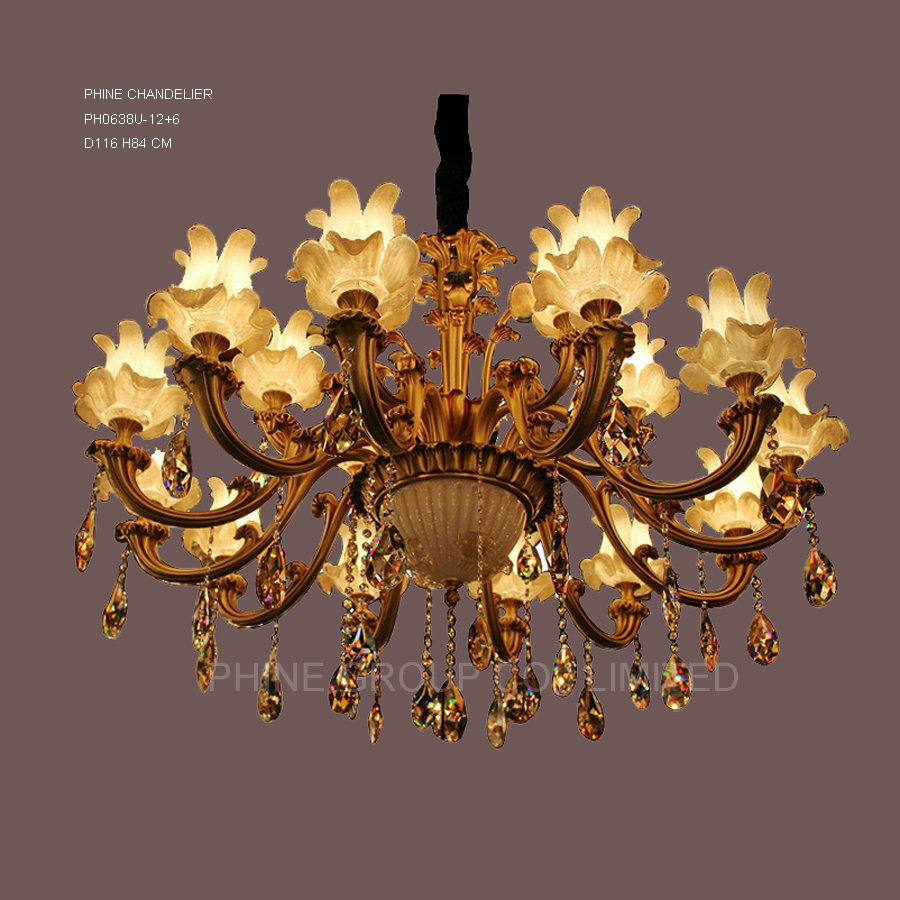 Swarovski Crystal Decoration Chandelier Copper Light