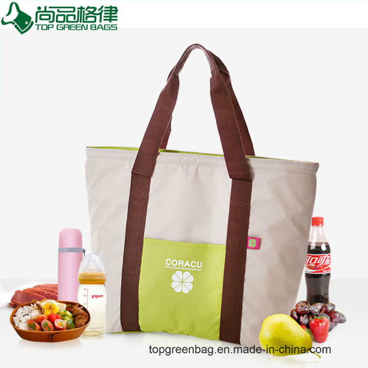 Fashion Canvas Tote Insulated Cooler Bags Shopping Cooler Bag