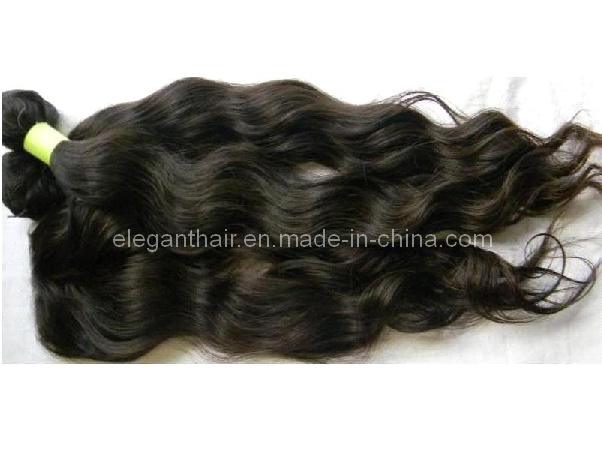 "Unprocessed Brazilian Virgin Natural Color 10""-*30"" Wavy Hair Extensions"