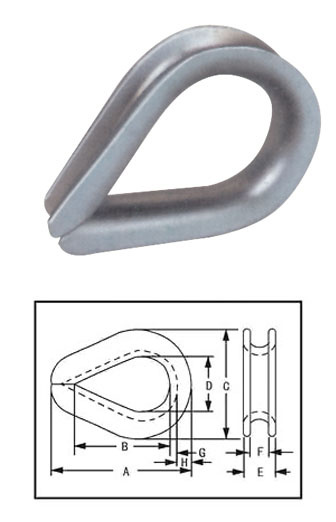 Ss316, Ss304, Carbon Steel Thimble